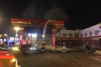بالصور.. إخماد حريق اندلع في محطة وقود بطريق محائل خميس البحر - المواطن