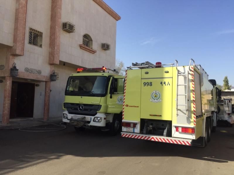 بالصور .. إصابة سيدتين بحريق عمارة سكنية بالمدينة المنورة