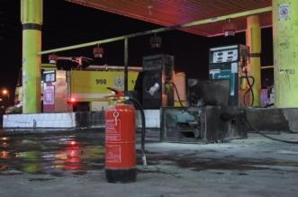 بالصور.. تحرك قبل انتهاء تعبئة الوقود فأشعل النيران بمضخة وقود بحائل! - المواطن