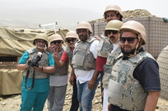 بالصور.. إعلاميو الجبيل يرصدون بطولات حرس الحدود على الحد الجنوبي - المواطن