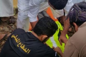 بالصور.. انتشال جثة طفل بالشعراء غرق في أمطار تهامة الباحة - المواطن