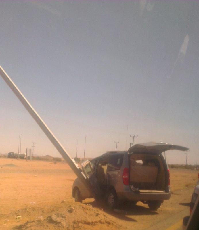 اصابه طالبتين ومعيده في حادث مروري ببيشه