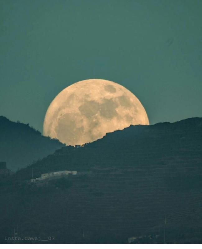 شاهد بدر البدور من جبال فيفا مِسَآءْ اليوم