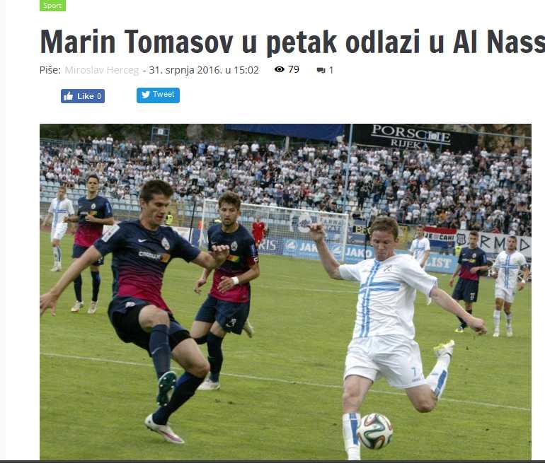 صحيفة كرواتية توماسوف