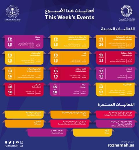 برامج تلفزيونية وعروض مسرحية.. 11 فعالية ترفيهية مميزة في الأسبوع الثاني من رمضان