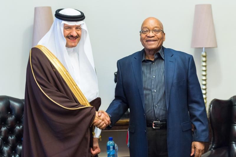 S رئيس جمهورية جنوب افريقيا يستقبل الامير سلطان بن سلمان