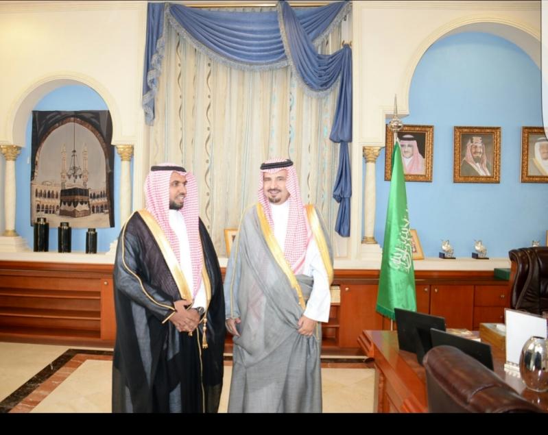 أمير الجوف يستقبل مديرا فرعي الاسكان والتجارة