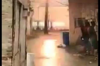 بالفيديو.. اشتعال عامود ضغط عالٍ داخل حي سكني في جازان - المواطن