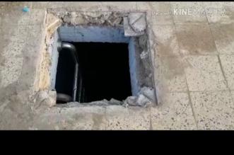 شاهد.. خزان أرضي مكشوف يهدد حياة المارة في أبي عريش - المواطن