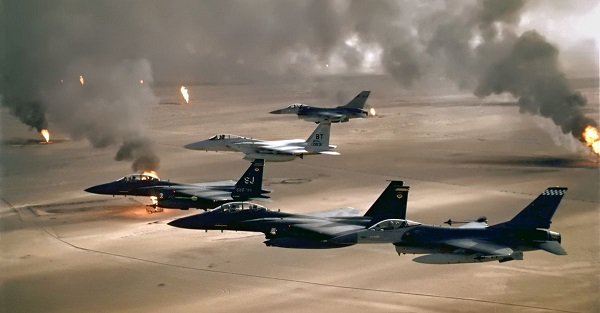 قصف مصافي نفط داعش