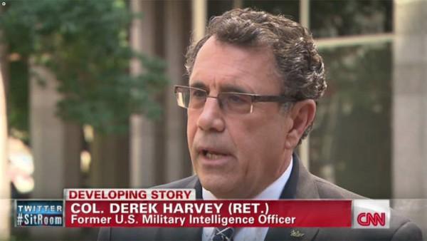 """قال الكولونيل ديريك هارفي الموظف السابق بجهاز الاستخبارات العسكرية الأمريكي إن تنظيم الدولة الإسلامية بالعراق والشام أو ما يُعرف بـ""""داعش"""" يسعى لتأسيس جبهة جديدة وقدرات على تنفيذ عمليات عنف واغتيالات إلى جانب التفجيرات في الأردن. - المواطن"""