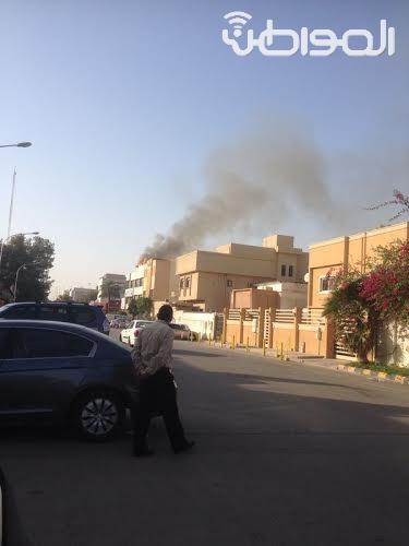 """بالصور.. حريق في عمارة بـ""""أربعين"""" الملز - المواطن"""