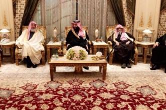 بالصور .. ولي العهد مع العلماء في منزل الشيخ صالح آل الشيخ - المواطن