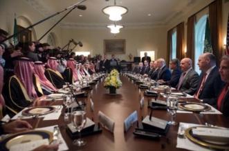 بالصور.. ترامب يقيم غداء عمل لـ ولي العهد في البيت الأبيض - المواطن