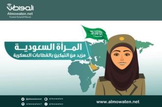 """جرافيك """"المواطن"""".. تمكين المرأة في 6 قطاعات عسكرية - المواطن"""