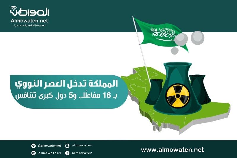 """إنفوجرافيك """"المواطن"""".. المملكة تدخل العصر النووي بـ16 مفاعلًا"""