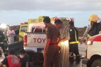 وفاة أب وأم وطفليهما بحادث مروري على طريق #بيشة #خميس_مشيط - المواطن