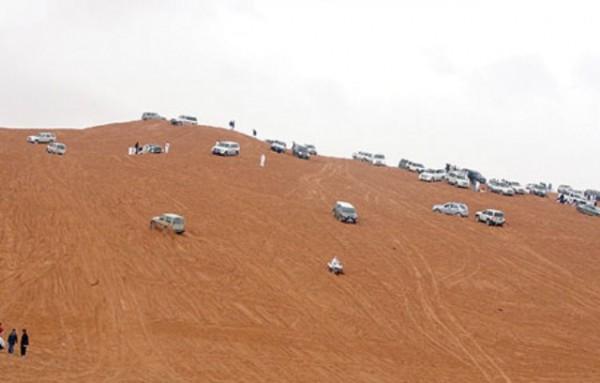 نفود الثمامة شمال مدينة الرياض