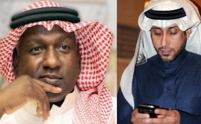 الكابتن سامي الجابر والكابتن ماجد عبدالله