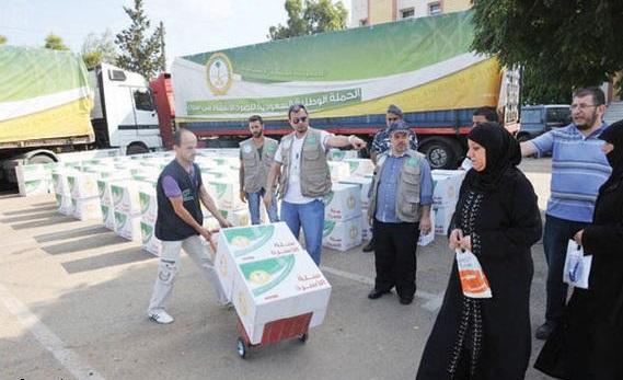 حملة نصرة الأشقاء السوريين توزع الحصص الغذائية في منطقة البقاع شرق لبنان
