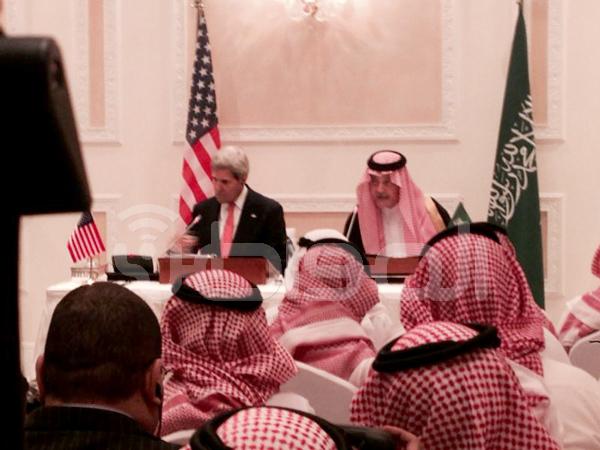سعود الفيصل وزير الخارجية وجون كيري