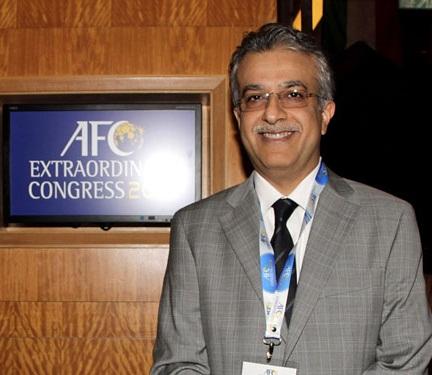 رئيس الاتحاد الآسيوي لكرة القدم الشيخ سلمان بن إبراهيم آل خليفة
