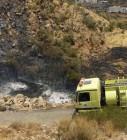 مدني بللسمر بعسير يخمد حريقاً بمدرجات زراعية بقرية المحور