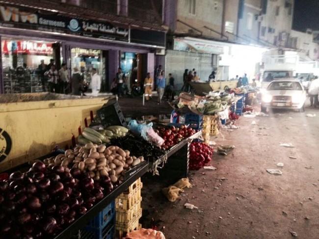 مصادر800 كرتون خضروات وفواكة في البطحاء والشميسي والوزارات  - المواطن