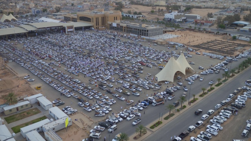 صور جوية لسوق التمور ببريدة
