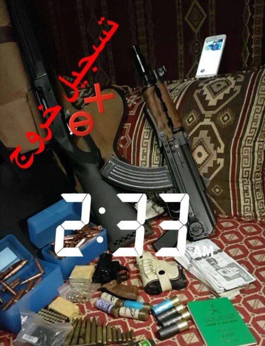 بالصور .. ضبط مروج حشيش عبر سناب شات وبحوزته أسلحة