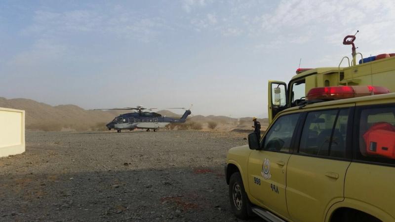 إخلاء مصاب بطلق ناري بجبل صبح في محافظة بدر