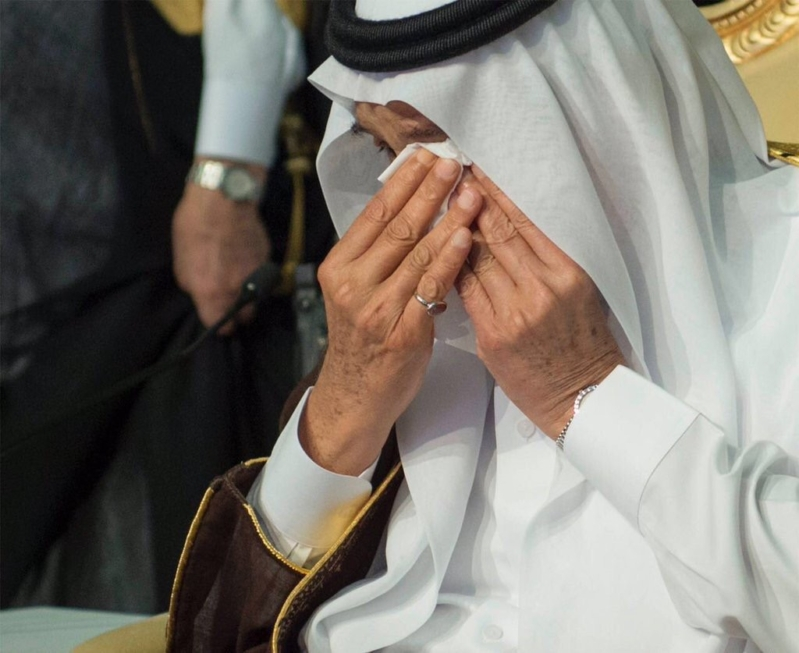 الملك سلمان في حفل تخرج ابنه