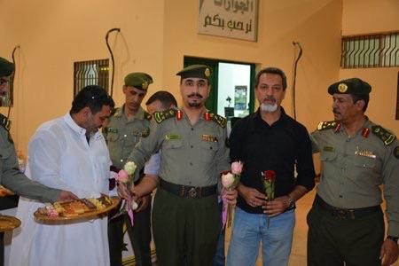 """استقبال الحجاج العراقيين في """"جديدة عرعر"""""""