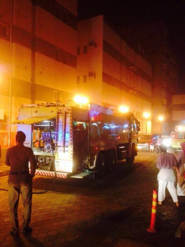 حريق سكن مستشفى العميس جازان