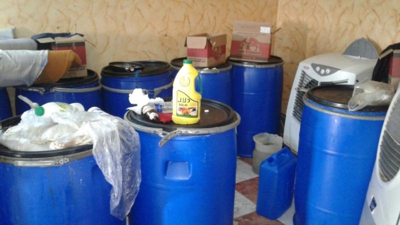 ضبط مصنعين للخمور في صبيا