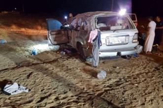 بالصور.. وفاة امرأة و 9 إصابات في حادث انقلاب بالقنفذة - المواطن