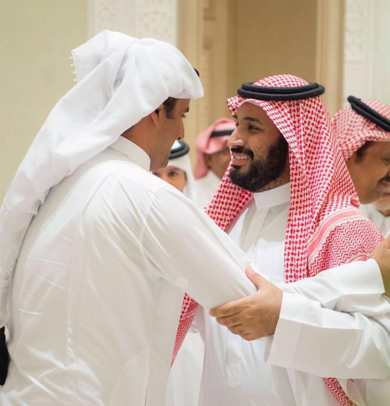 محمد بن سلمان مرحبا بامير قطر