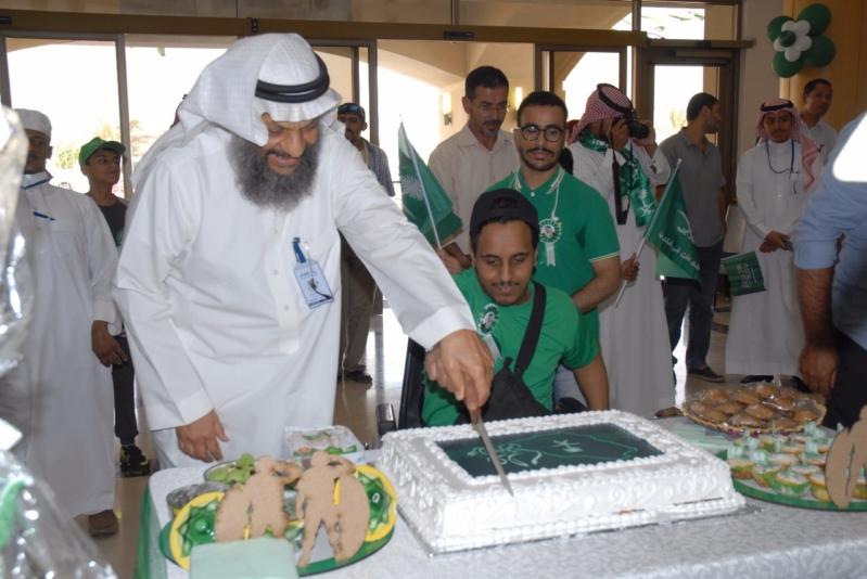 بالصور.. طلاب جمعية المعاقين إيفاء يحتفلون باليوم الوطني للمملكة