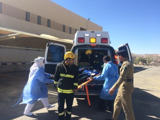 حريق وهمي نفذه مستشفى سبت العلايا بمقر المعهد الصناعي الثانوي ببلقرن - المواطن