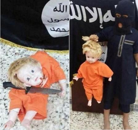 داعش يدرب الأطفال على نحر دمية