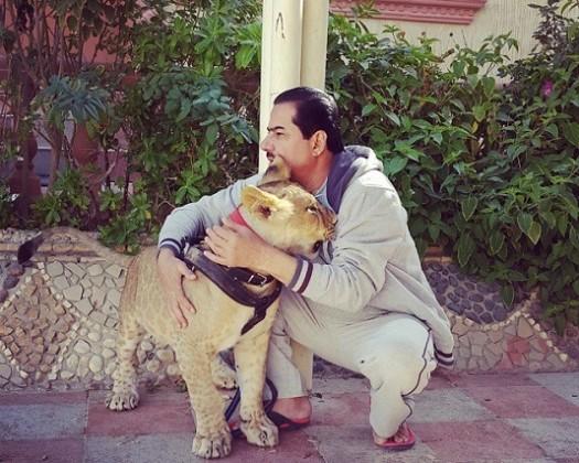 """""""العنزي"""" يكشف لـ""""المواطن"""" أسرار عائلته مع الحيوانات المفترسة"""