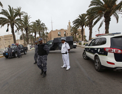 Police provide security in Tripoli