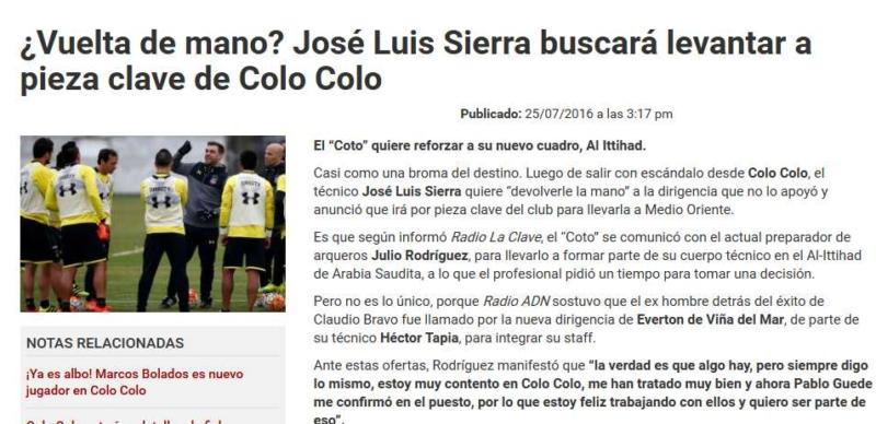 خوسيه لويس يفاوض خوليو رودريجيز