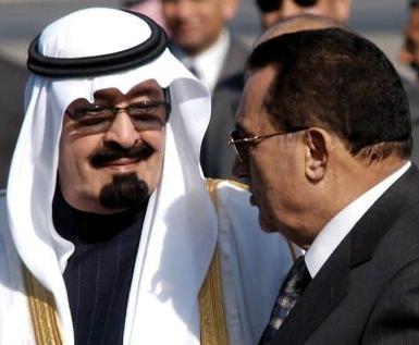 مبارك والملك عبدالله