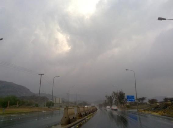 أمطار الطائف - الهدا