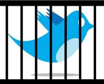 Image result for تويتر خلف القضبان