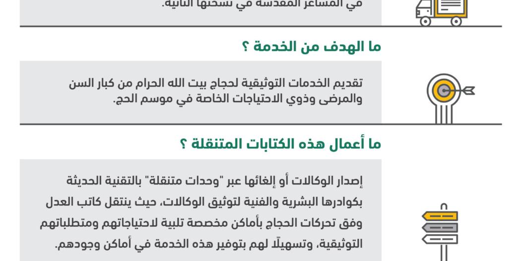 تجهيز 18 دائرة قضائية و6 كتابات عدل متنقلة لضيوف الرحمن