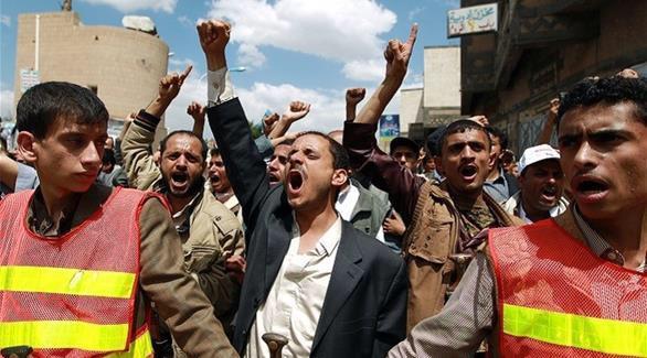 المتظاهرون الحوثيون يتجمعون حول السفارة السعودية بصنعاء مطالبين بالإفراج عن النمر