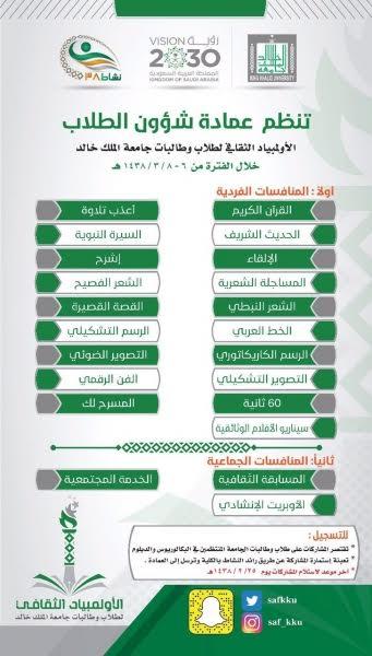 الاولمبياد الثقافي جامعة الملك خالد