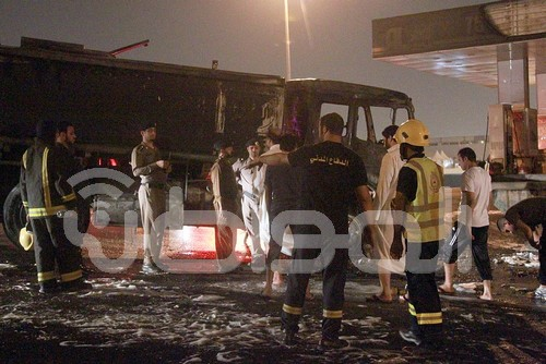 بالصور.. انفجار صهريج وقود بالدائري الشرقي بالرياض - المواطن